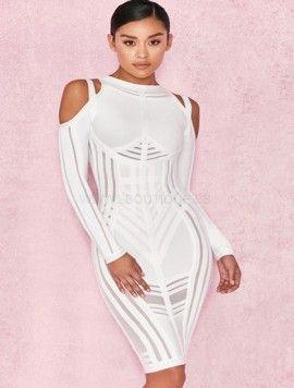 e12ae43556cc BANDAGE MONIQUE BLANCO | estilo | Vestidos, Moda y Vestido moderno