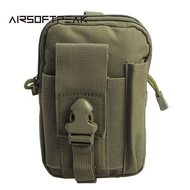 AIRSOFTPEAK Tactical Molle Pouch Belt Waist Bag Military Fanny Pack Outdoor Pouches Phone Case Pocket For Iphone 7 Hunting Bags