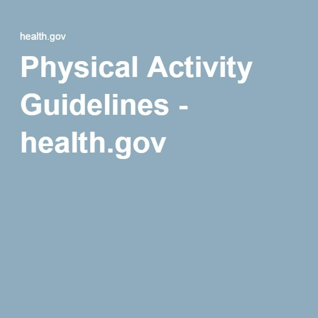 Physical Activity Guidelines - health.gov