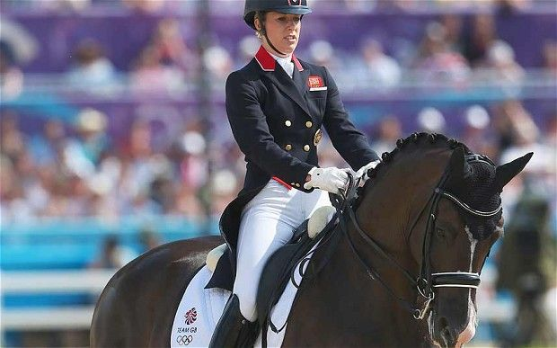 Charlotte Dujardin on Valegro wins gold medal in the freestyle dressage at London 2012 Olympic Games