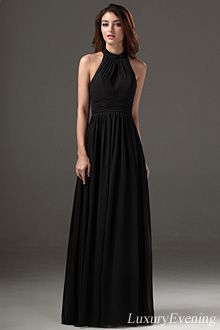 High Neck Evening Dresses - E2565