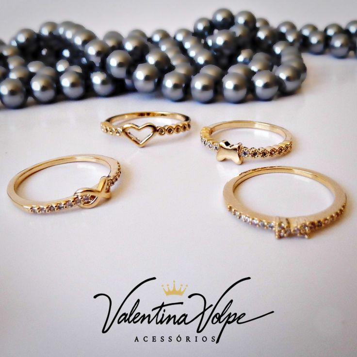 Anéis fininhos com zirconia que arrasam ...  www.valentinavolpe.com.br