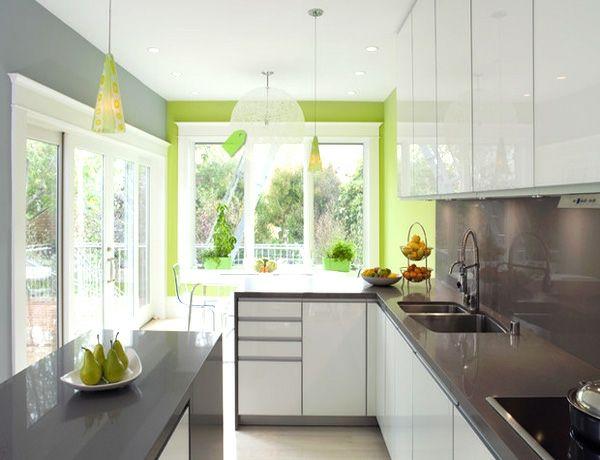 die besten 25+ grüne wandfarbe für die küche ideen auf pinterest ... - Wandgestaltung Mit Farbe Küche