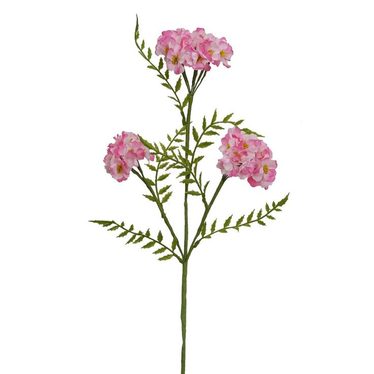 "Artificial Phlox Flower Spray in Pink - 25"" Tall"