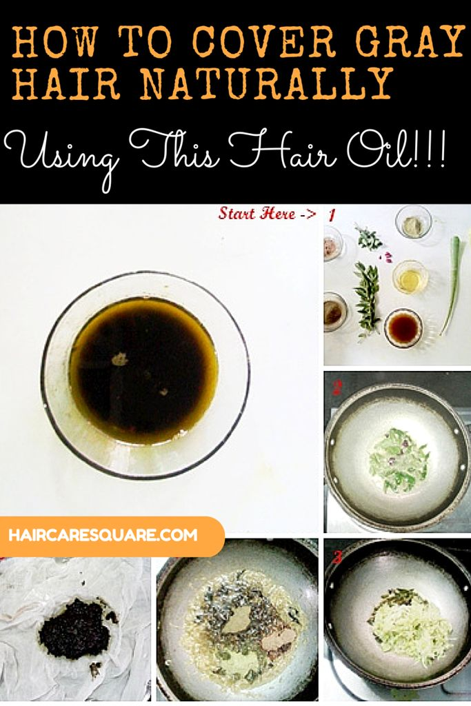 How to cover Gray Hair Naturally By Using This Hair Oil !!!  This oil is very well researched and finally perfected overtime.   Do give it a try and Re-Pin for later.