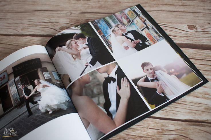 Fotoksiążka ślubna Printu 30x30 cm, płótno, po prawej: układ 4 zdjęć  www.printu.pl