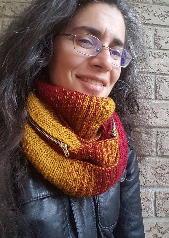Knitting Pattern Reversible Infinity Scarf Or Cowl Thanks It Has