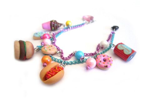 Junkfood Addict Charm Bracelet – Dirty Lola's