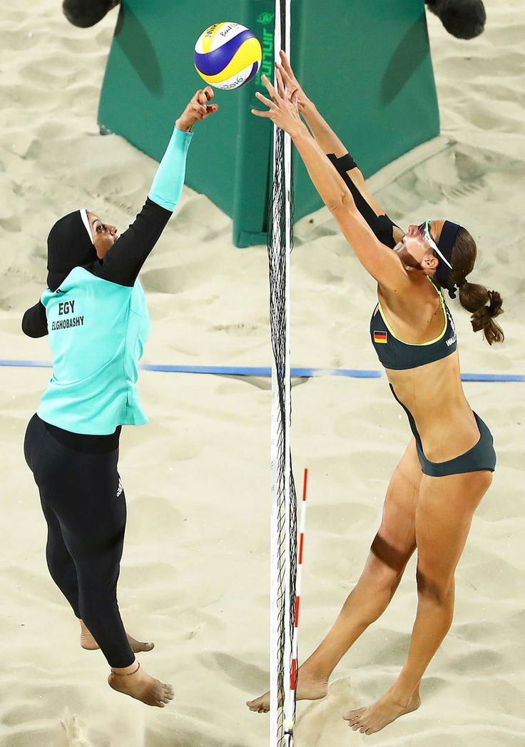 Cultural Differences At The Olympics    cultural-differences-olympic-games-lucy-nicholson-rio-de-jeneiro In this photo Lucy Nicholson captured not only Doaa Elghobashy (Egypt) and Kira Walkenhorst (Germany) competing in beach volleyball at the Olympic Games 2016 in Rio de Janeiro but also the cultural differences of two civilizations.