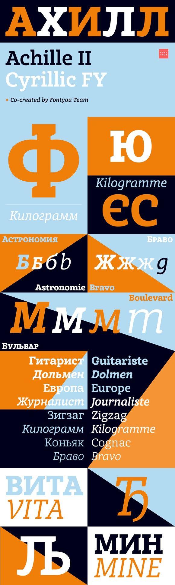 Achille II Cyr FY Medium Italic. Slab Serif Fonts. $70.00