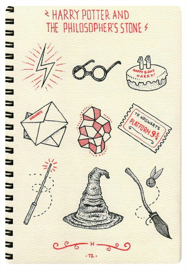 Moleskin harry potter harry potter drawings harry potter art harry potter tattoos - Harry potter dessin ...