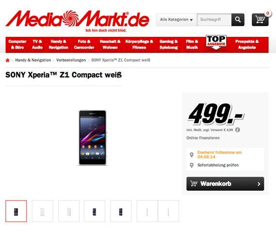 Sony Xperia Z1 Compact, Τιμή 599 ευρώ στην Ελλάδα; - http://www.greekradar.gr/sony-xperia-z1-compact-timi-599-evro-stin-ellada/