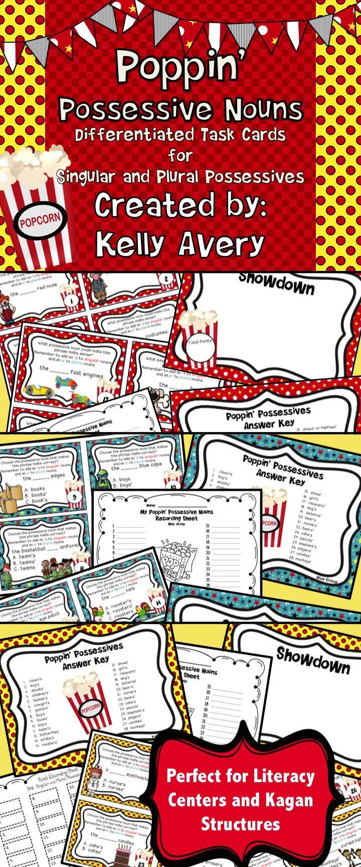 Possessive Nouns:  Singular and Plural Possessive Noun Task Cards #teachersfollowteachers #teacherspayteachers #iteachtoo #teachers #tpt #education #learning #homeschooled #homeschooler #homeschooling