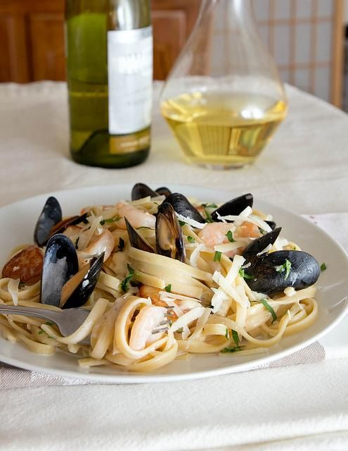 Seafood Recipes : Seafood Fettuccine Recipe