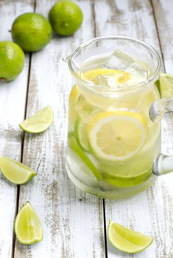 Eau détox citron et citron vert - Le buzz des eaux détox - Elle à Table