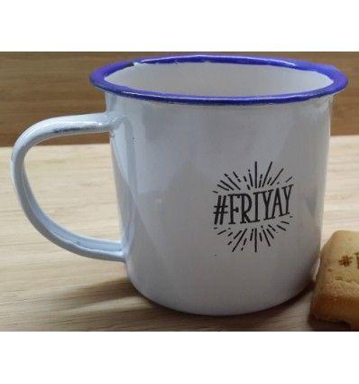 #friyay enamel mug