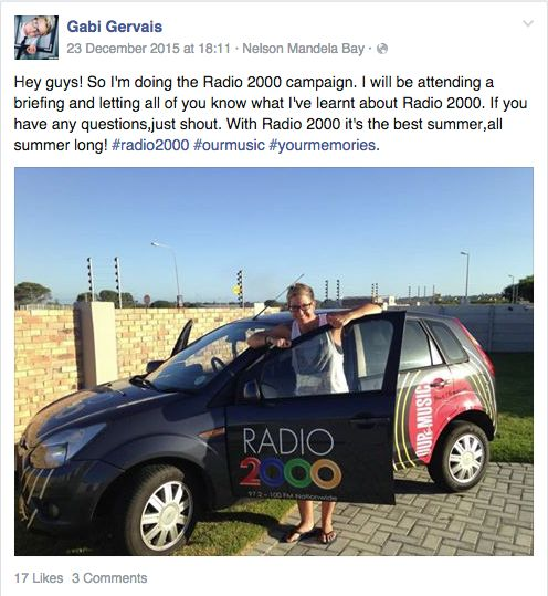 Screenshot from one of our #Radio2000 influencers.