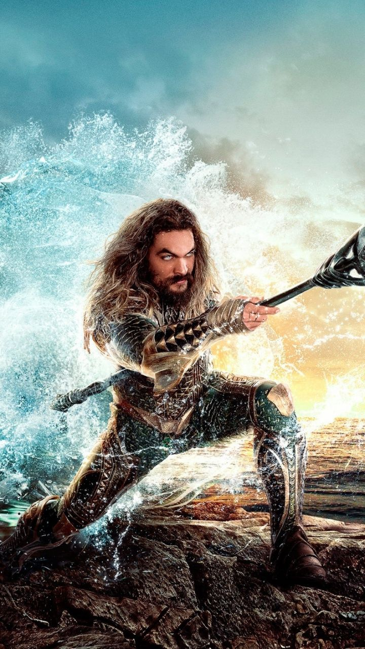Aquaman Jason Momoa Justice League Movie 2018 720x1280