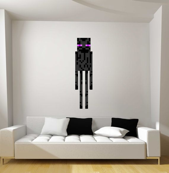 Minecraft Enderman Fathead Style Repositionable Graphic Decal Sticker On  Etsy, $39.95