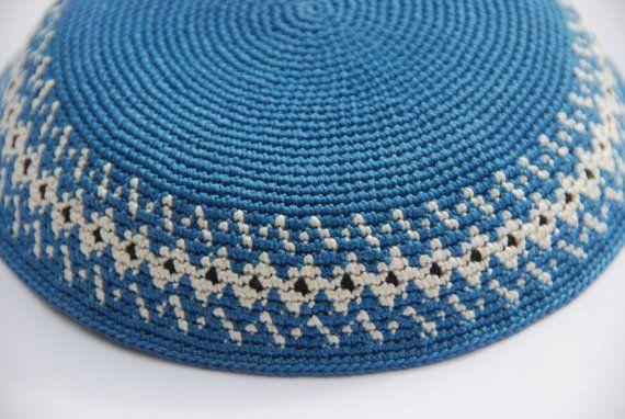 Crochet Patterns Kippah : Crochet Yarmulke (Kippah) Hand made by Shoshis Studio, via Etsy.