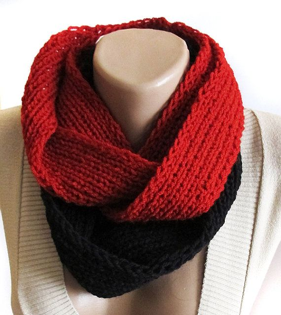 Red and Black scarf scarf red scarf Christmas by selenayy on Etsy #etsy #scarf #accessory #women #womensfashion #handmade #scarves