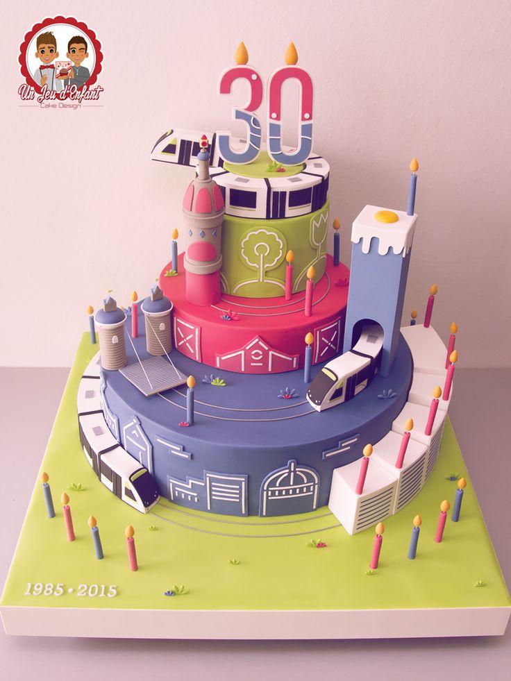 Gâteau pour les 30 ans du Tramway Nantais TAN - Un Jeu d'Enfant , Cake design - Nantes