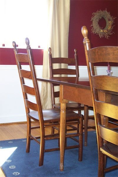 Amish Shaker Ladder Back Dining Chair