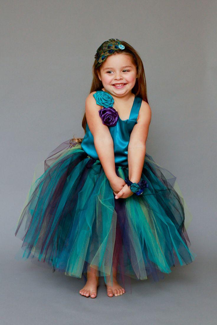 The 25+ best Peacock flower girl dress ideas on Pinterest ... - photo #30
