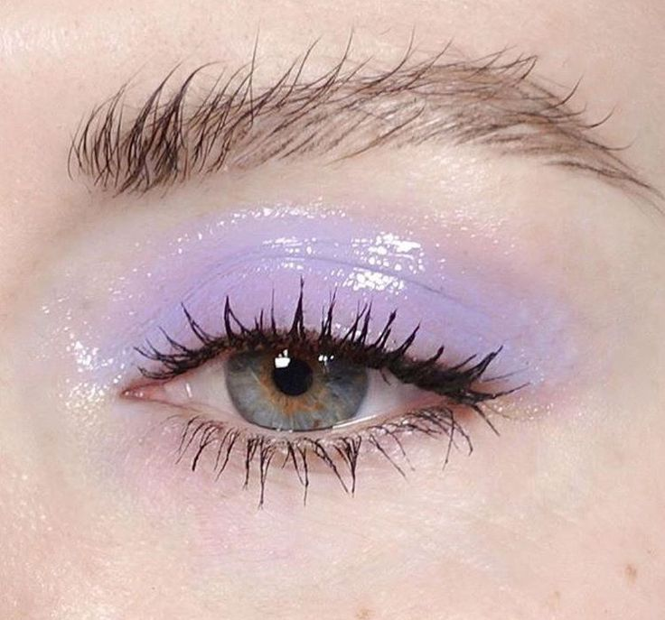 the brow looks weird but i love that glossy violet eyeshadow!