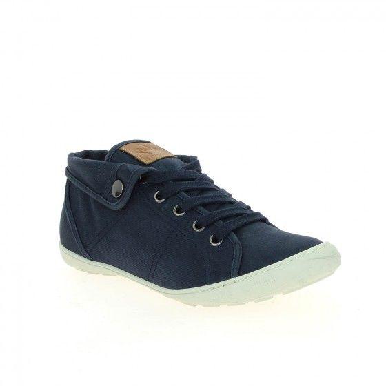 Tennis en toile bleu PALLADIUM GAETANE TWL - Bessec-chaussures.com