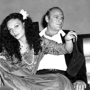 Diane von Furstenberg and Barry Diller at Studio 54, New York, 1977