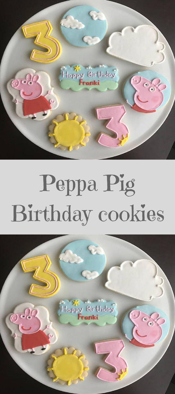Peppa Pig Cookies #affiliate Birthday Cookies