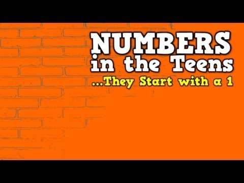 ▶ Numbers in the Teens (They Start with a 1) (song for kids about teen numbers) - YouTube