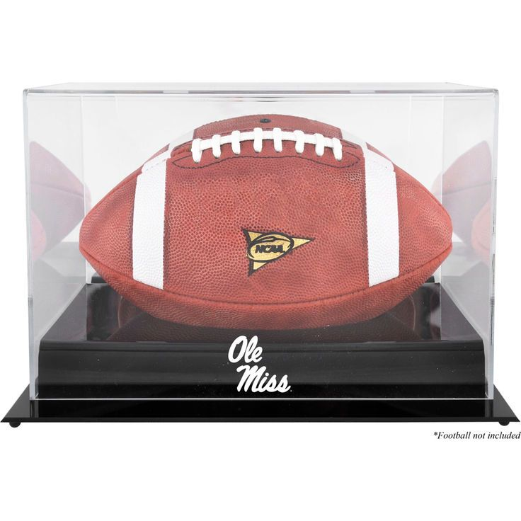 Ole Miss Rebels Fanatics Authentic Black Base Football Logo Display Case - $59.99