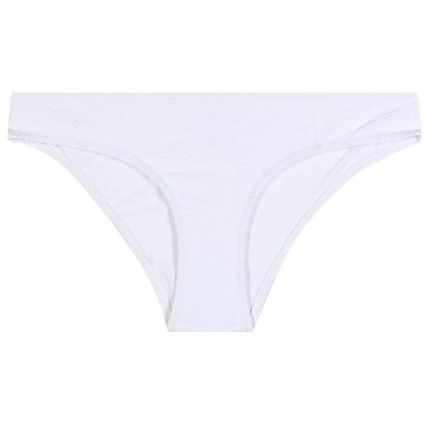 Heidi Klein Signature Bikini Bottoms (1.588.115 IDR) ❤ liked on Polyvore featuring swimwear, bikinis, bikini bottoms, white, white bikini, white bikini bottoms, swim bikini bottoms, bottom bikini and white two piece