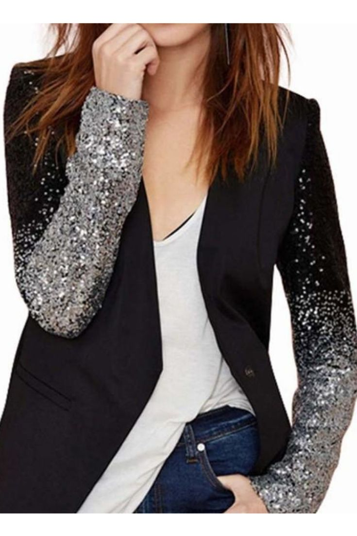 sequined blazer, sequin jacket, blazer for women, blazer outfits, black  blazer, black blazer dressy date nights, black blazer outfit, sequin blazer  black, ... 4b1c7215f345