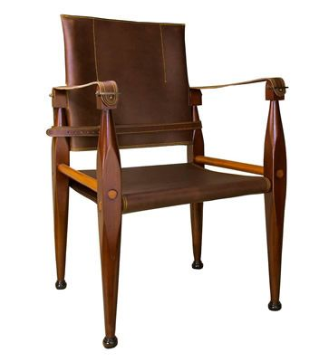 Buy Authentic Models Bridle Leather Campaign Chair Online With Houseology Price Promise Full Authentic Models Collection With Uk International Shipping