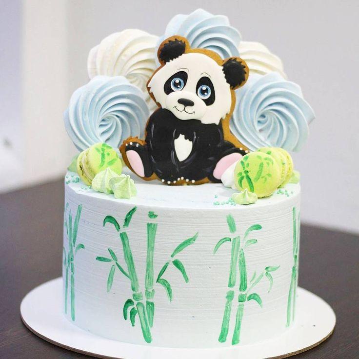"(@tastyinspiration): ""Panda birthday cake by @testo.ru Please ❤ if you like this cute and sweet cookie panda  . Be…"""