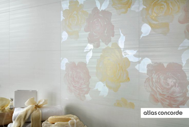 #RADIANCE | #Flowers | #White | #AtlasConcorde | #Tiles | #Ceramic