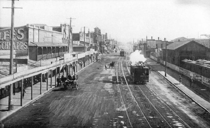 Hunter St,near Crown St in Newcastle in the Hunter region of New South Wales in 1890.