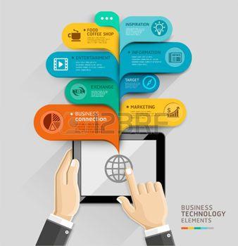 Бизнес технологии шаблон стиля речи пузырь.  Векторная иллюстрация.  может быть использован для размещения рабочих процессов, диаграммы, варианты количество, активизировать параметры, веб-дизайн, шаблоны баннер, инфографики.  Фото