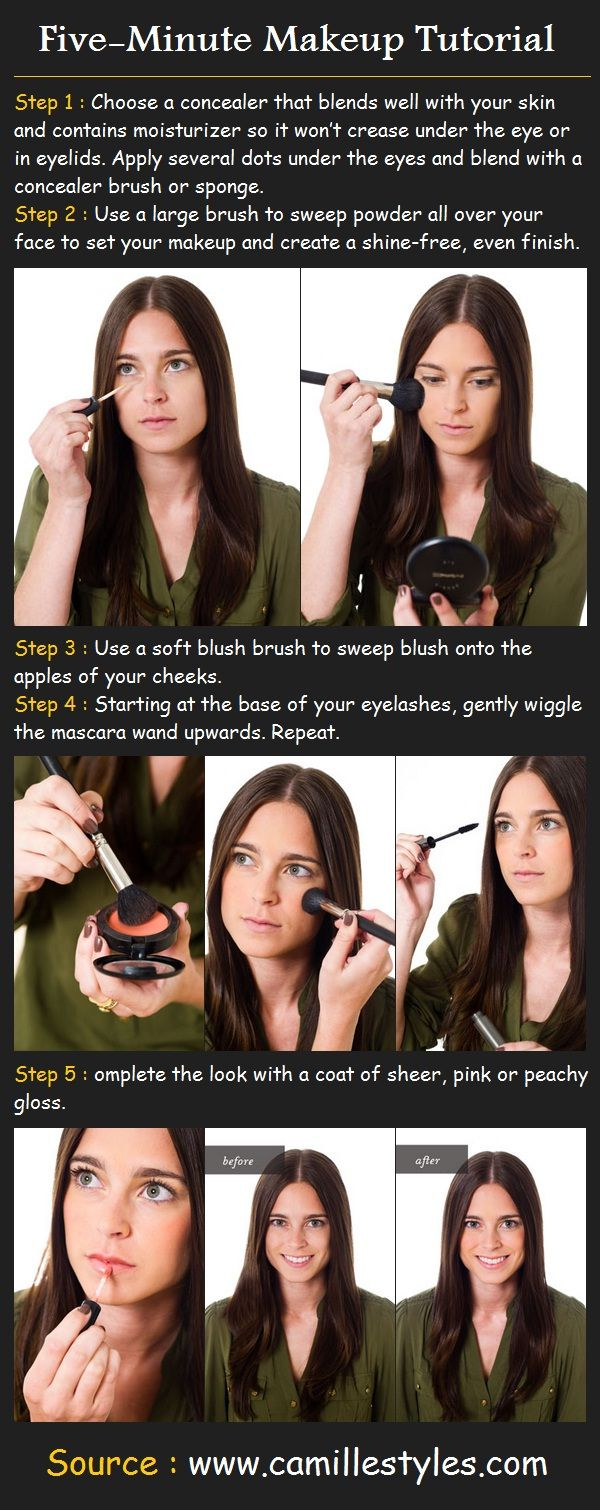 198 best make up tutorials info images on pinterest beauty five minute makeup beauty tutorials baditri Image collections