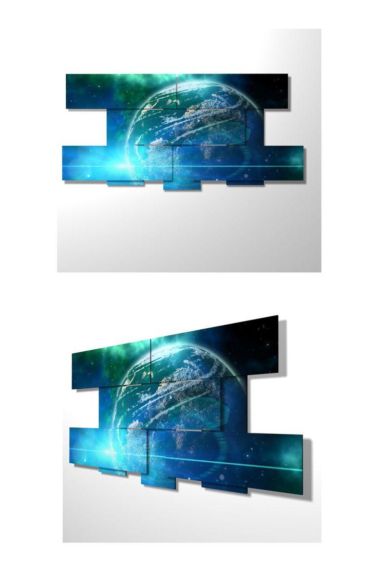8 pieces – 186 x 89 cm #quadri3D #design #wallart #multipanel #quadri