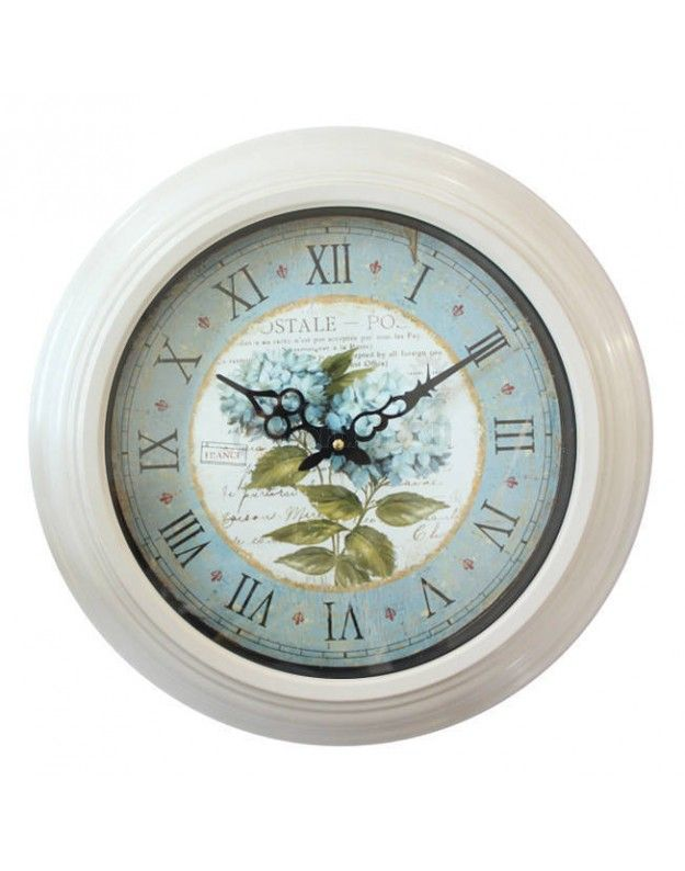 "Metallic Wall Clock  ""CARTE POSTALE"" 43 CM"