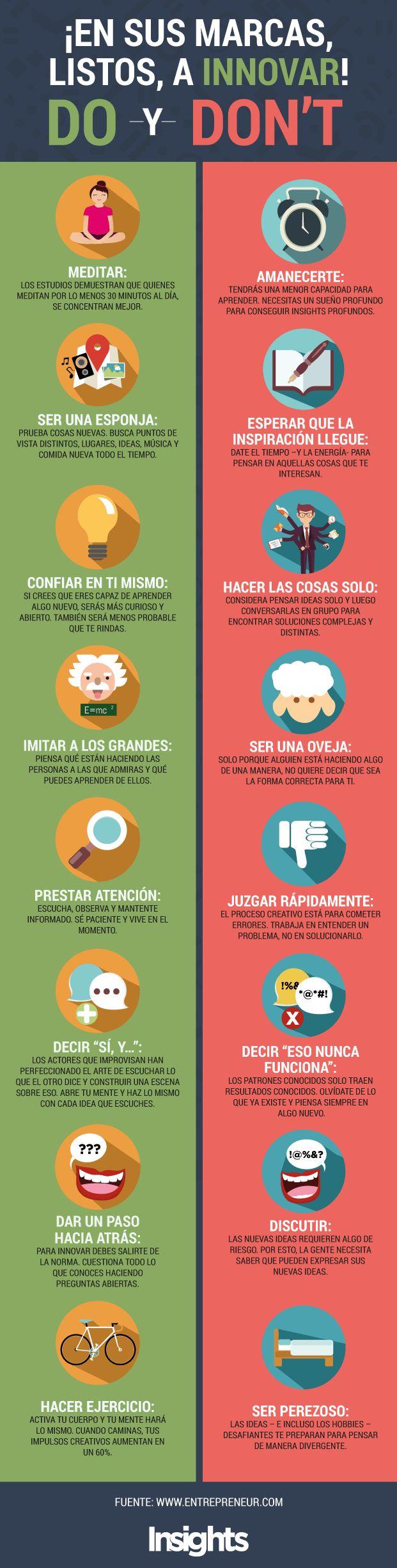 Qué hacer y qué no hacer para innovar #infografia