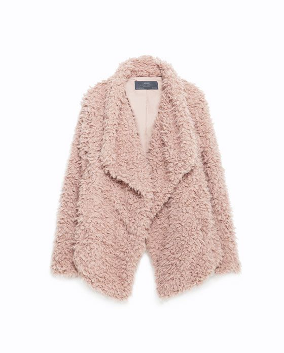 Image 8 of SOFT FAUX FUR JACKET from Zara