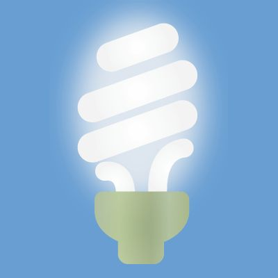 How to Clean Up Broken CFL Bulbs