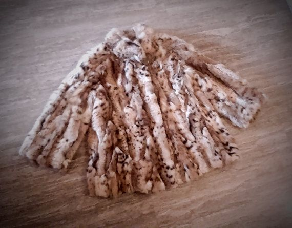 Fur jacket/ Real fur/ Cat lynx fur/ Natural color