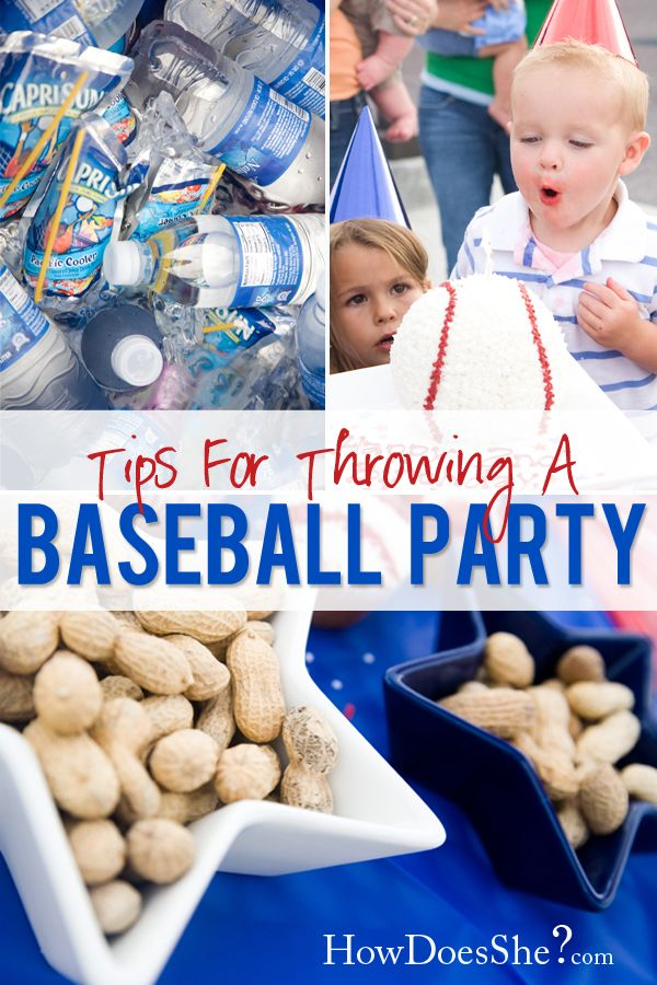 Here are some great ideas for throwing a baseball party! Our sports cello, ribbon, and baseball balloons are a perfect match for this theme! #baseball_party