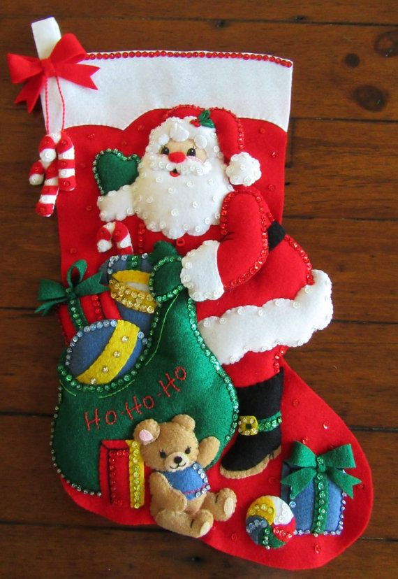 Bucilla Ho Ho Santa 18  Completed by MissingSockStitchery on Etsy